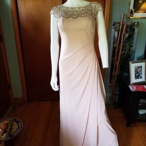 Aqua Dresses beautiful flowing ruched beaded gown